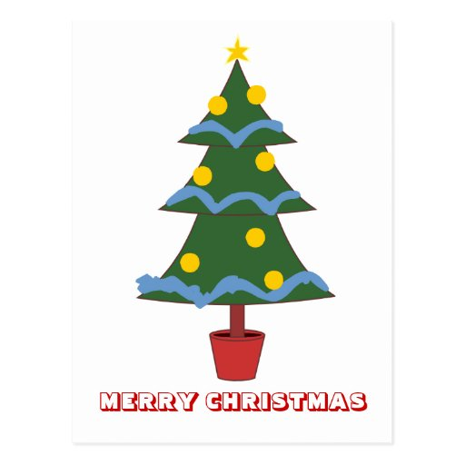 Feliz Natal, por Nekoni, árvore de Natal Cartao Postal