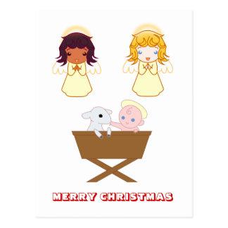 Feliz Natal, por Nekoni, cena da natividade Cartão Postal