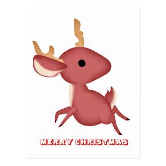 Feliz Natal, por Nekoni, corredor pequeno dos cerv Cartao Postal
