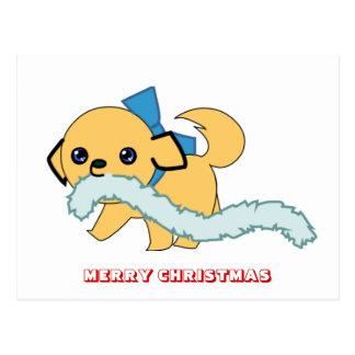Feliz Natal, por Nekoni, divertimento do filhote d Cartão Postal