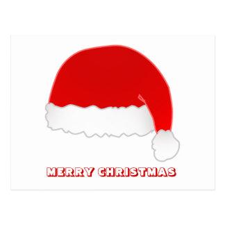 Feliz Natal, por Nekoni, o chapéu do papai noel Cartão Postal
