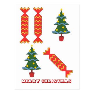 Feliz Natal, por Nekoni, por árvore e por biscoito Cartão Postal