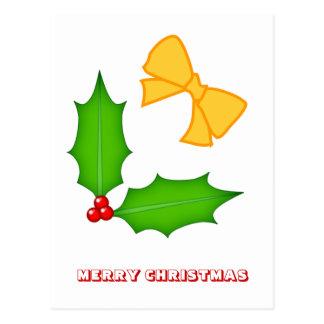 Feliz Natal, por Nekoni, por azevinho e por arcos Cartão Postal