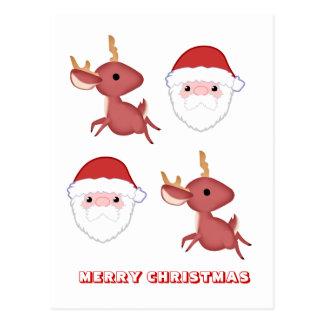 Feliz Natal, por Nekoni, por papai noel e por cerv Cartao Postal