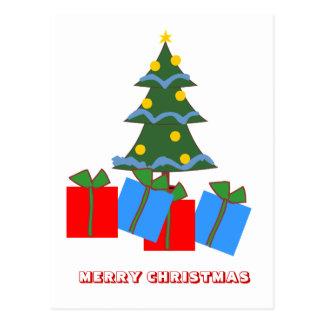 Feliz Natal, por Nekoni, presentes sob a árvore Cartão Postal