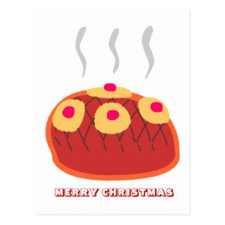 Feliz Natal, por Nekoni, pudim de ameixa bonito Cartões Postais