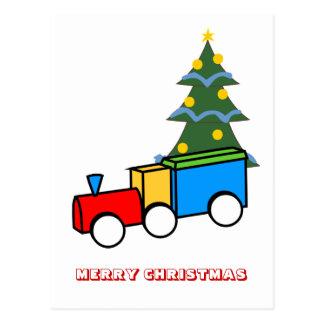 Feliz Natal, por Nekoni, trem do brinquedo Cartão Postal