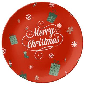 Feliz Natal Pratos De Porcelana