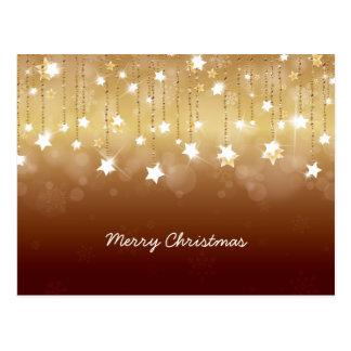 Feliz Natal que Twirling as estrelas 3 Cartão Postal