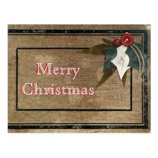 Feliz Natal rústico retro elegante simples da Cartão Postal