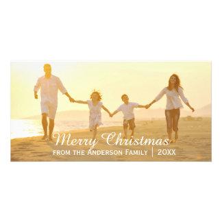 Feliz Natal simples - cartão com fotos