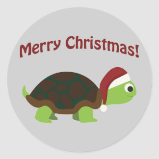 Feliz Natal! Tartaruga do papai noel Adesivo