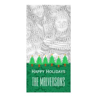 Feliz Natal V6 das árvores de Natal de GROUPON Cartão Com Foto