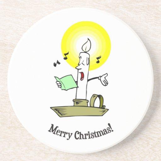 Feliz Natal, vela ardente que canta uma canção de  Porta Copos