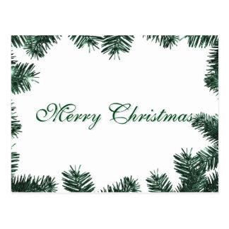 Feliz Natal verde elegante simples da decoração da Cartão Postal