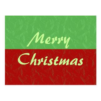 Feliz Natal vermelho e verde Cartão Postal