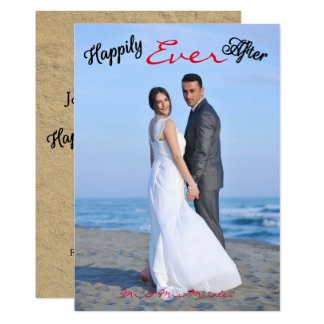 Feliz nunca após a foto - anúncio do casamento convite 12.7 x 17.78cm