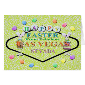 FELZ PASCOA do cartão fabuloso de Las Vegas