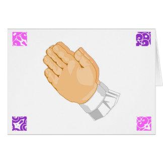 Felz pascoa Praying da criança das mãos Cartão Comemorativo