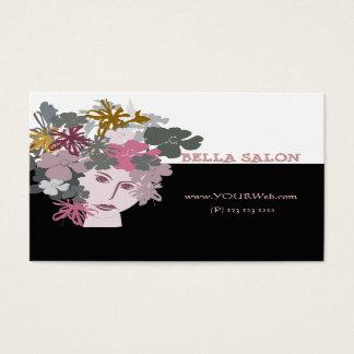 Fêmea da flor do jardim cartão de visitas