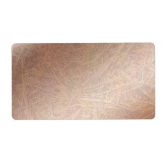 Feno dourado da faísca do brilho artístico etiqueta de frete