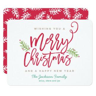 Feriado brilhante do Natal do roteiro moderno da Convite 10.79 X 13.97cm