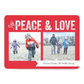 Feriado da bandeira 2-Photo do amor da paz da Convite 12.7 X 17.78cm