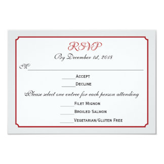 Feriado de dezembro que Wedding a resposta de RSVP Convite 8.89 X 12.7cm