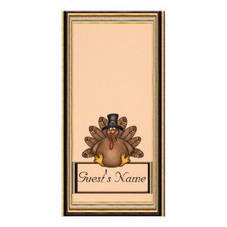 Feriado de Tom turquia da acção de graças Cartão Com Foto Personalizado