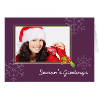 Feriado do Natal da foto do azevinho roxo multi do Cartões