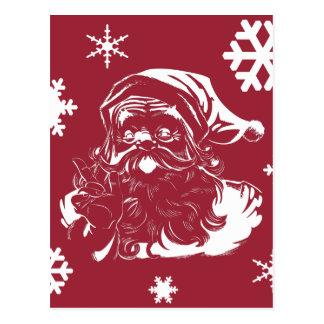 Feriado do vermelho do Natal dos flocos de neve de Cartoes Postais