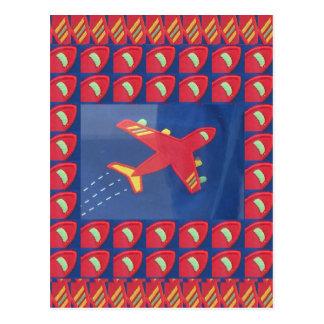 Feriado do viagem do vôo dos aviões do avião do cartão postal