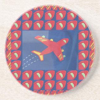 Feriado do viagem do vôo dos aviões do avião do porta copos de arenito