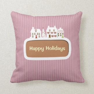 Feriado Feliz Natal felizes com decorações Travesseiros