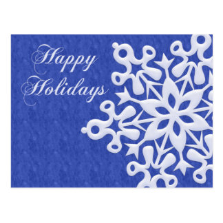 Feriado gigante Postcar do Natal do floco de neve Cartão Postal