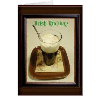 Feriado irlandês cartão comemorativo