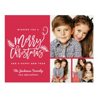 Feriado moderno 3-Photo do Natal do roteiro da Cartão Postal