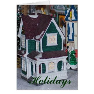 Feriados da vila cartão comemorativo