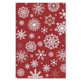 Feriados vermelhos do White Christmas do floco de Papel De Seda
