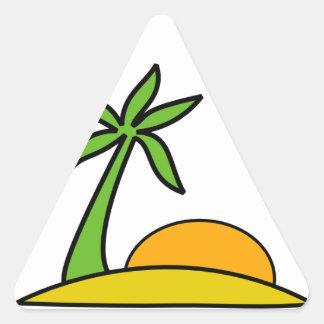 Férias na Praia Adesivo Triângulo