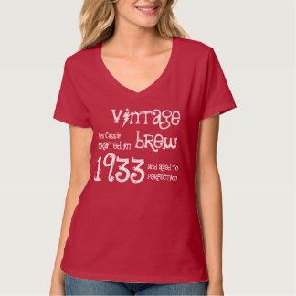 fermentação 1933 do vintage do presente de camiseta