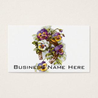 Ferradura floral cartão de visitas