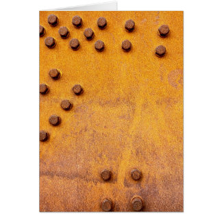 Ferro e oxidação cartão