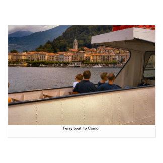 Ferryboat a Como Cartão Postal