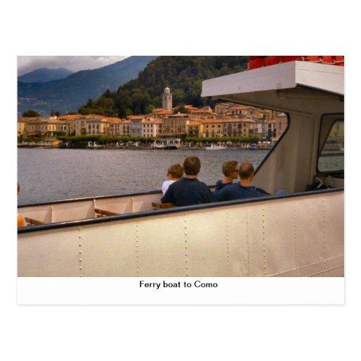 Ferryboat a Como Cartões Postais