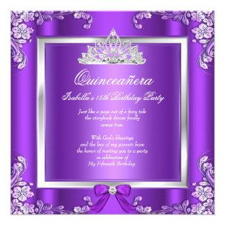 Festa de aniversário 3 da princesa Quinceanera Convite Personalizados