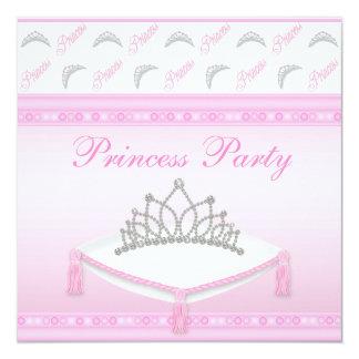 Festa de aniversário bonito da princesa Tiara Convite Personalizados