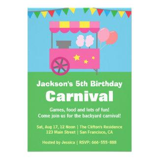 Festa de aniversário colorida do carnaval do algod