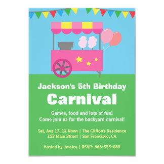 Festa de aniversário colorida do carnaval do convite 11.30 x 15.87cm