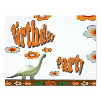 Festa de aniversário convite 10.79 x 13.97cm